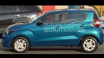 2016 Fiat Mobi spy photo