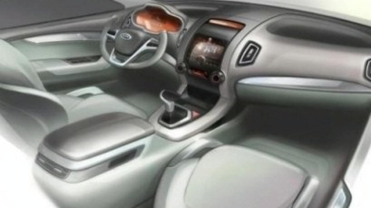 2010 Kia Sorento Interior Sketch