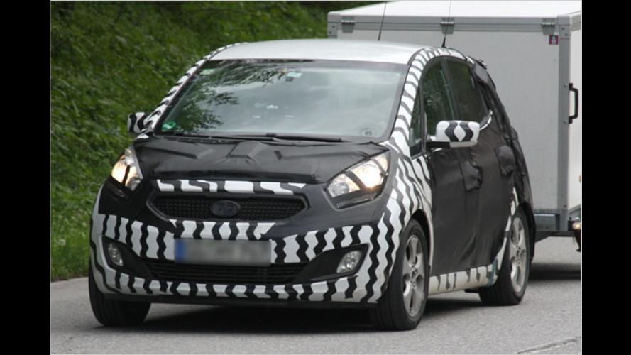 Erwischt: Minivan von Kia auf letzten Testfahrten