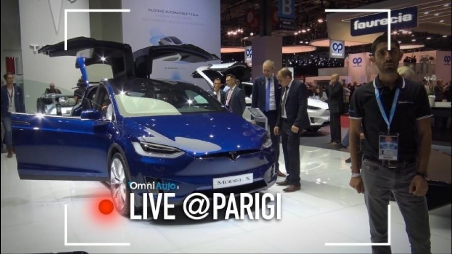 Salone di Parigi, Tesla Model S P100D e Model X [VIDEO]