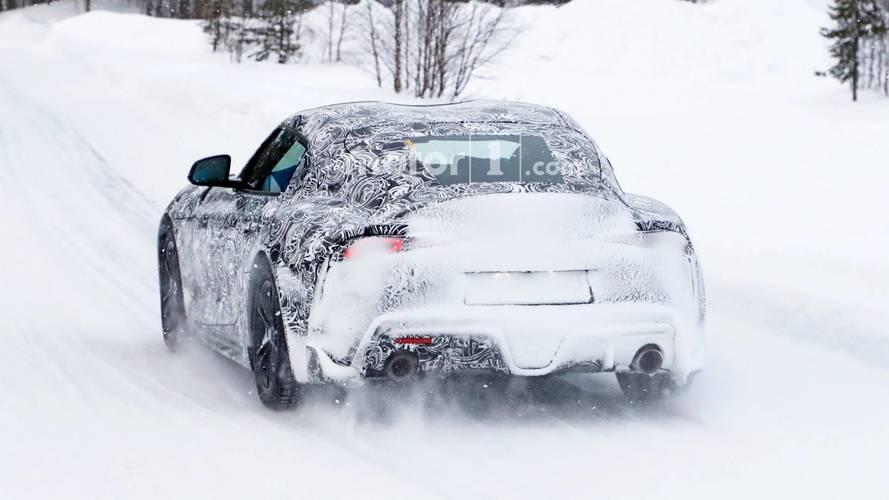 2018 Toyota Supra spy photo with less camo