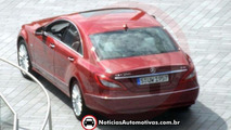 2012 Mercedes CLS caught completely uncovered