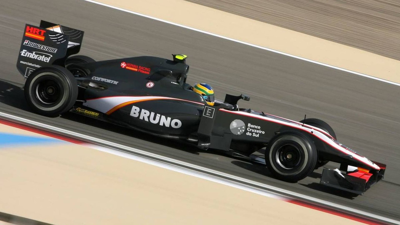 Bruno Senna (BRA), HRT F1 Team, Bahrain Grand Prix, Friday Practice