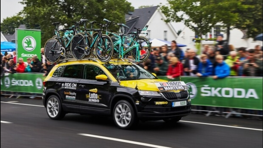 Skoda Karoq, l'ammiraglia del Tour de France