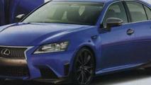 2014 Lexus GS F render based on spy photo 03.09.2013