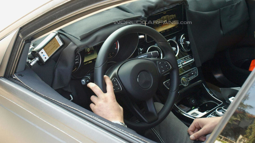 2014 Mercedes C-Class sheds camo, shows off interior in latest spy photos