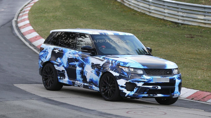 2015 Range Rover Sport RS spied on the Nurburgring