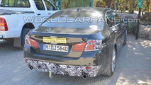 2014 BMW 5-Series facelift spy photo