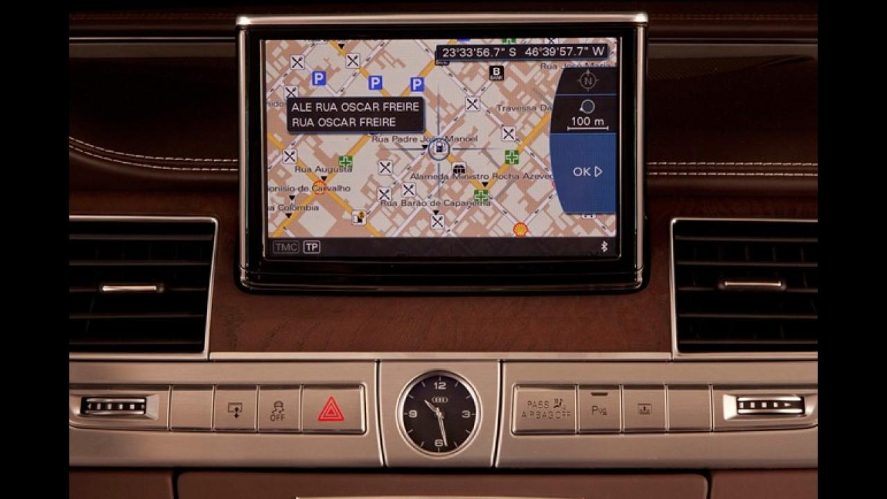 Audi passa a oferecer sistema GPS na linha 2012 de todos os seus modelos