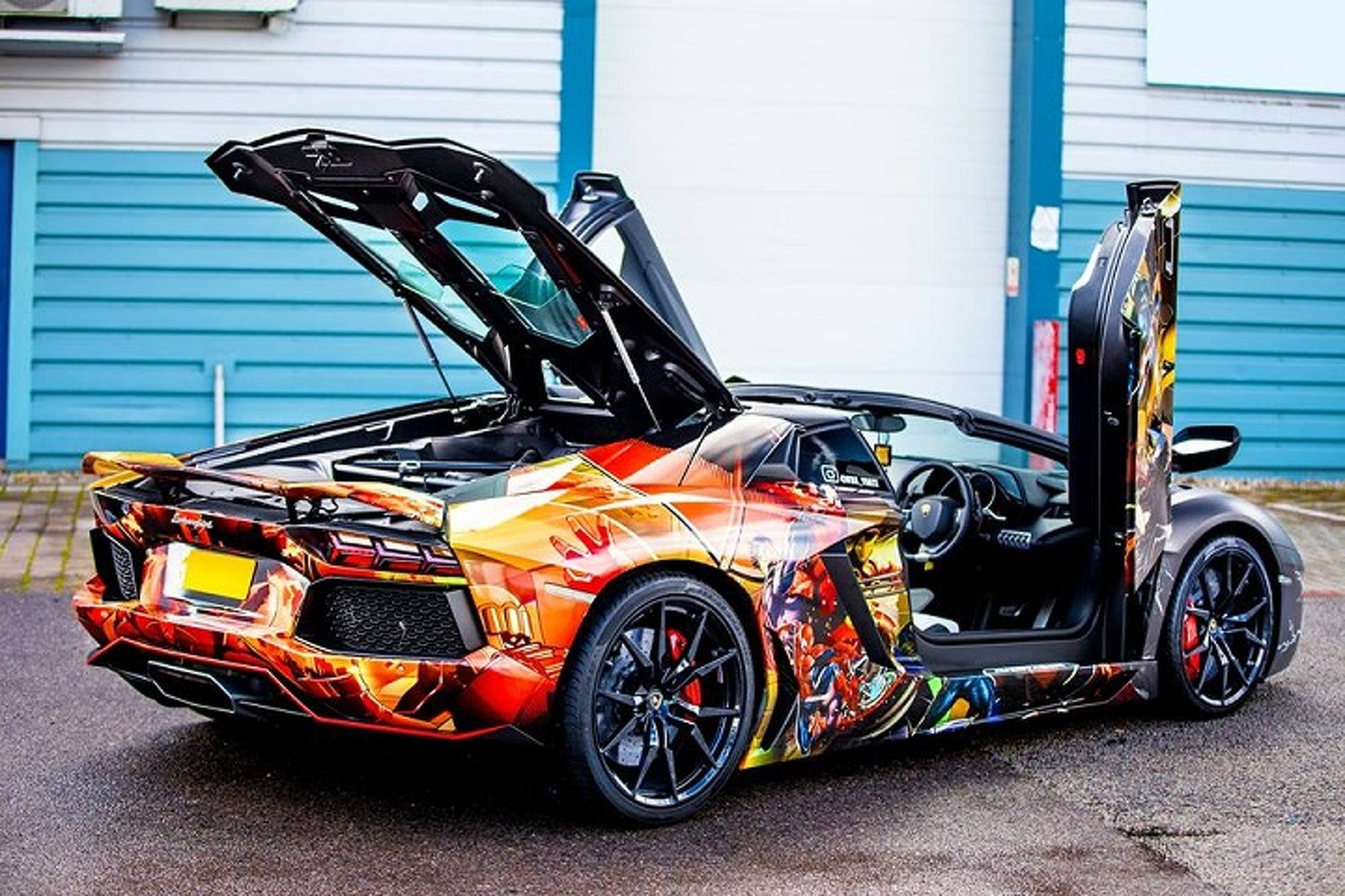 Vw Of America >> Lamborghini Aventador Gets a Marvel-ous Superhero Wrap