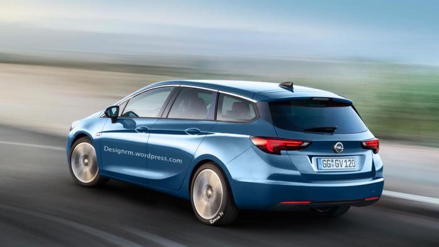 Opel Astra K wagon and sedan already rendered