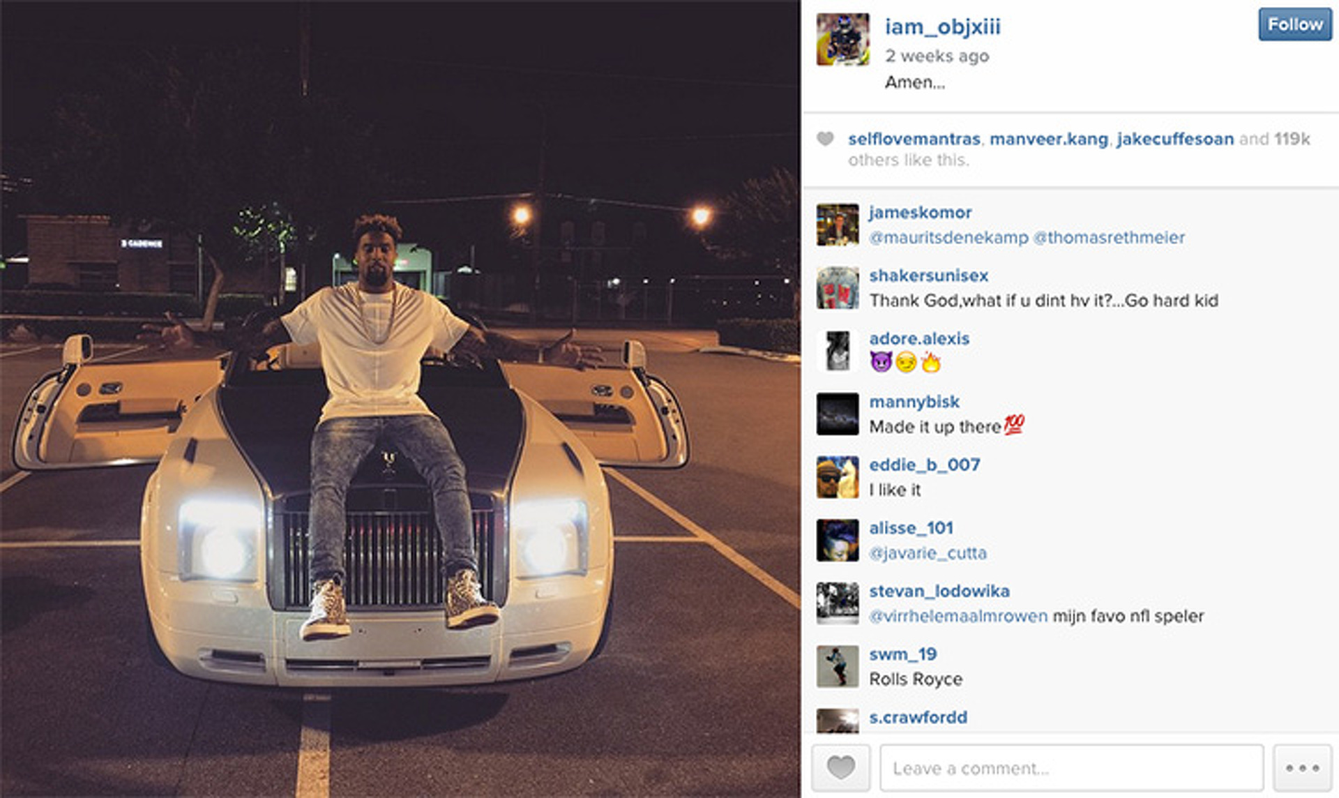 Odell Beckham Jr. And His Rolls Royce Phantom Drophead Coupe Compare  Wingspans