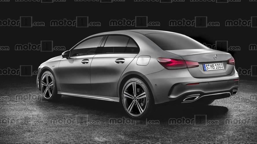 Mercedes A-Class Sedan Render Should Be Close To The Actual Car