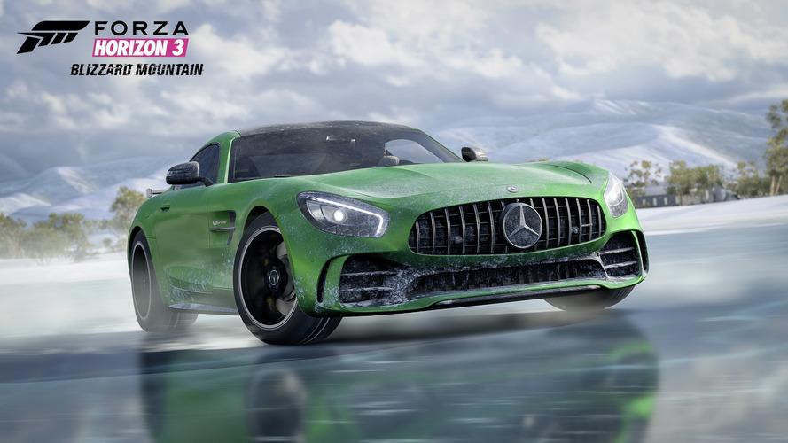 Forza Horizon 3 junta Mercedes-AMG GT R e pista de gelo para dança especial