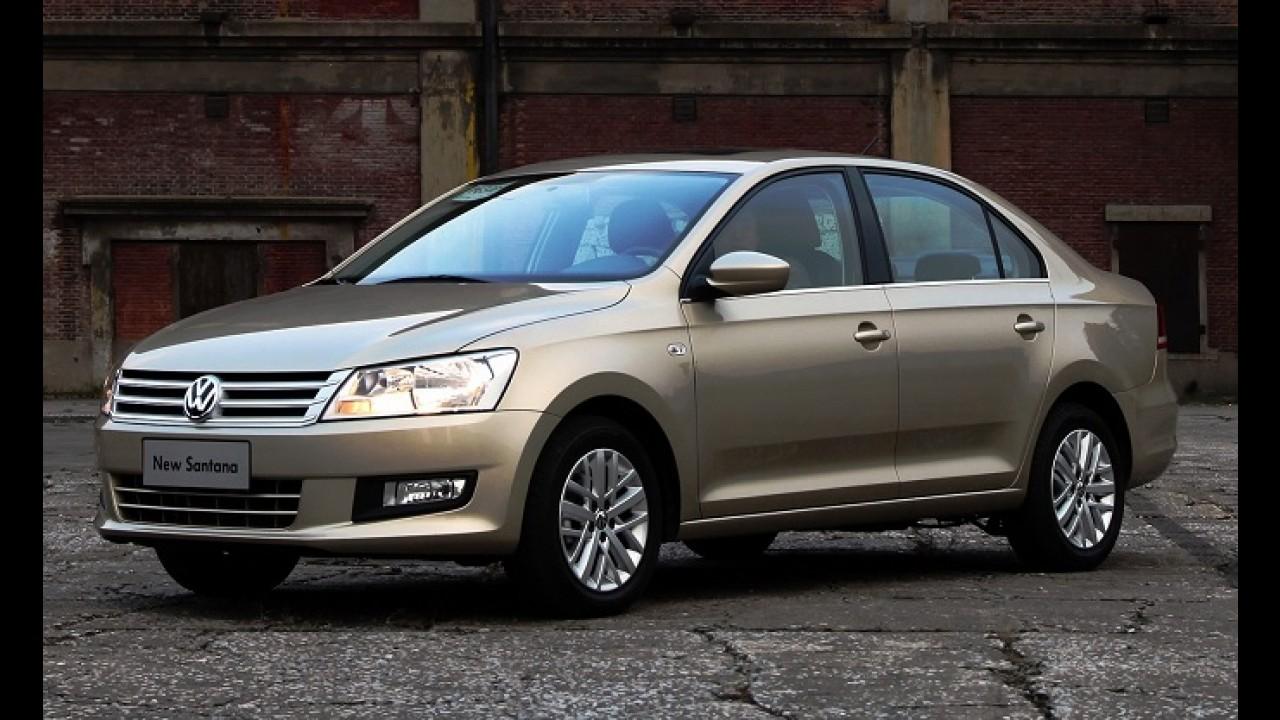 Volkswagen Santana com visual atualizado aparece em primeiras imagens
