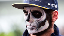 Max Verstappen, Red Bull Racing with Halloween themed face paint
