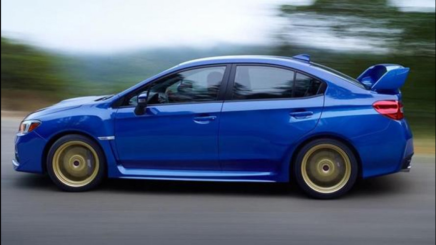 Subaru WRX STi, le prime immagini