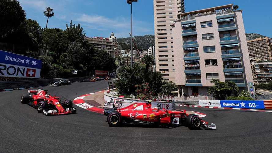 Raikkonen Vettel Monaco GP depart