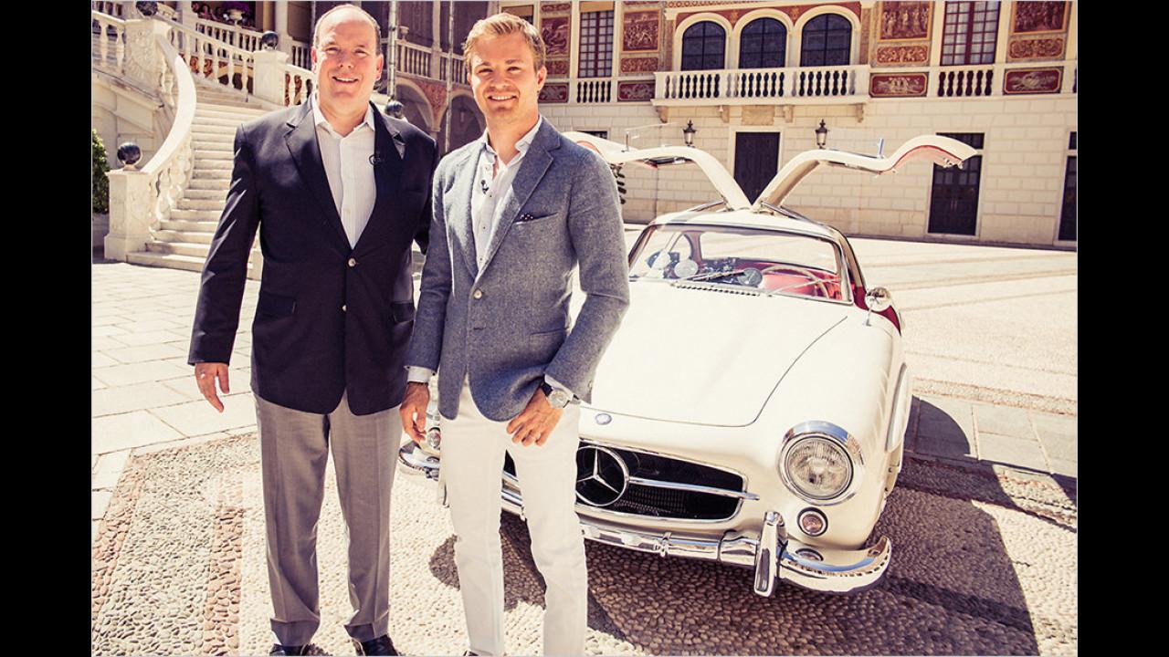 Fürst Albert von Monaco und Nico Rosberg: Mercedes 300 SL