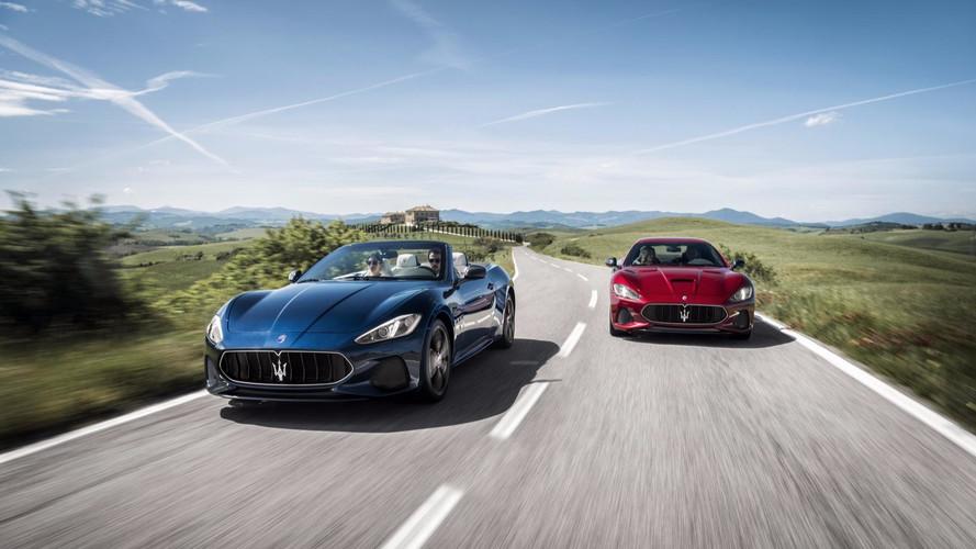 Les Maserati GranTurismo et GranCabrio en séance photo