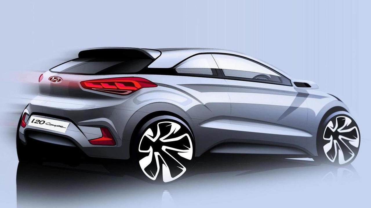 2015 Hyundai i20 Coupe teaser sketch