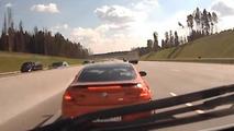 BMW M6 blocking ambulance in Russia