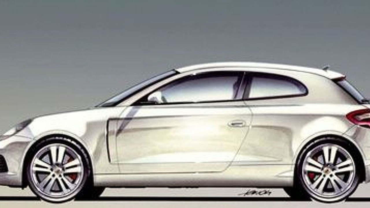 Porsche hatchback illustration from 2002
