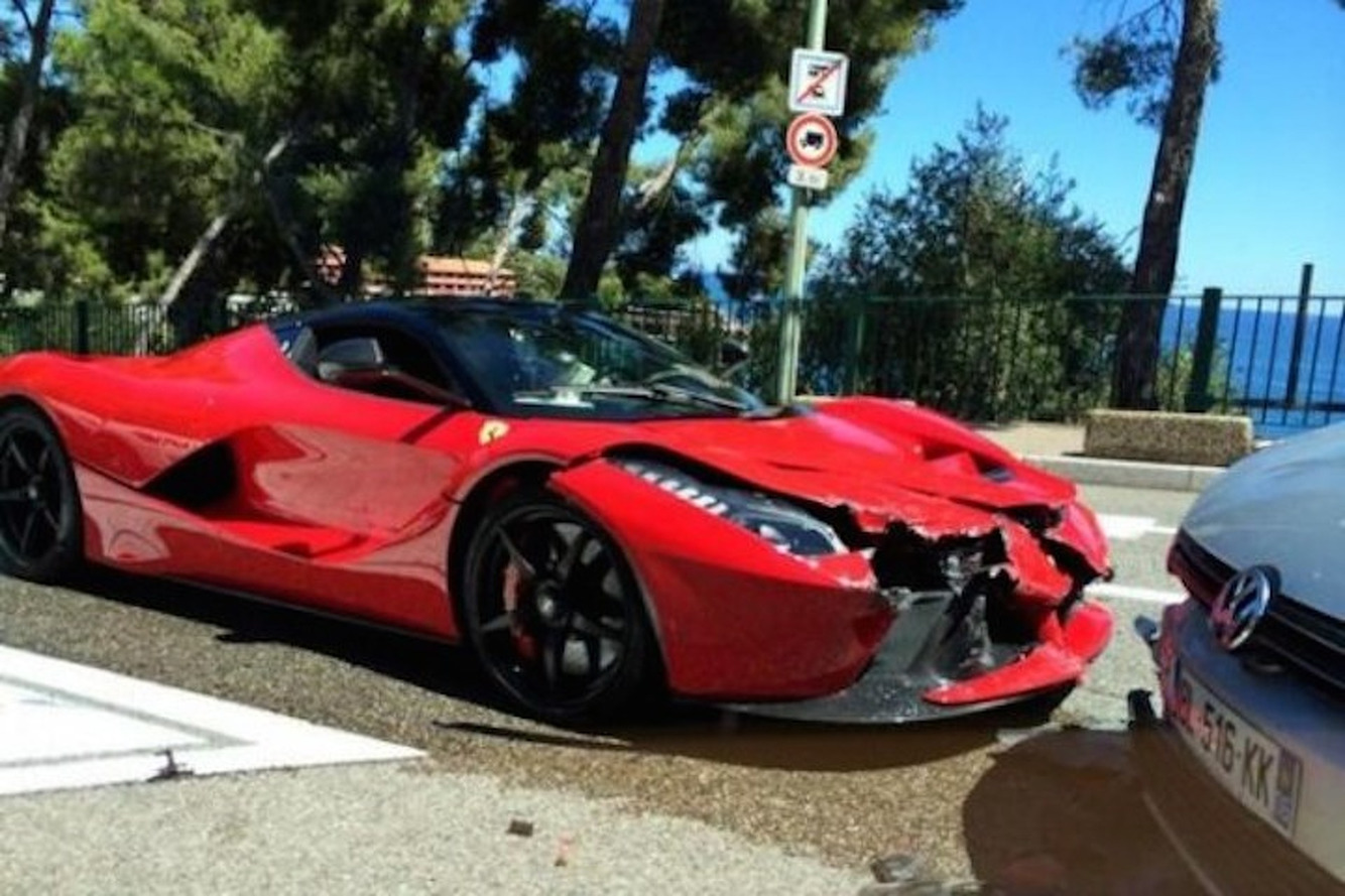 Customer Crashes $1.4 Million Ferrari LaFerrari In Monaco