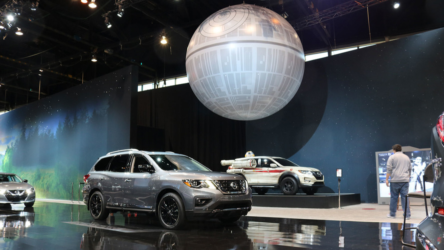 Why Nissan has a 17-foot inflatable Death Star at its auto show stand