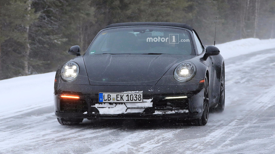 2019 Porsche 911 Convertible Spy Photos