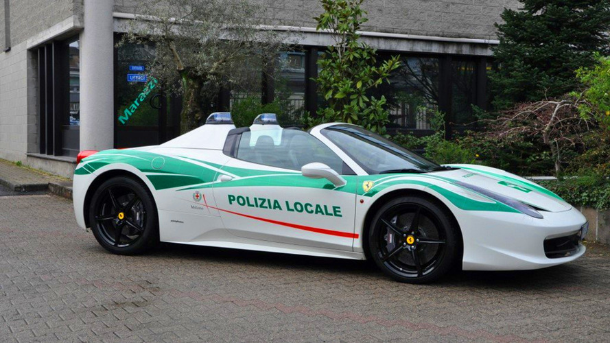 Mafia's Former Ferrari 458 Spider Now Police Car In Milan