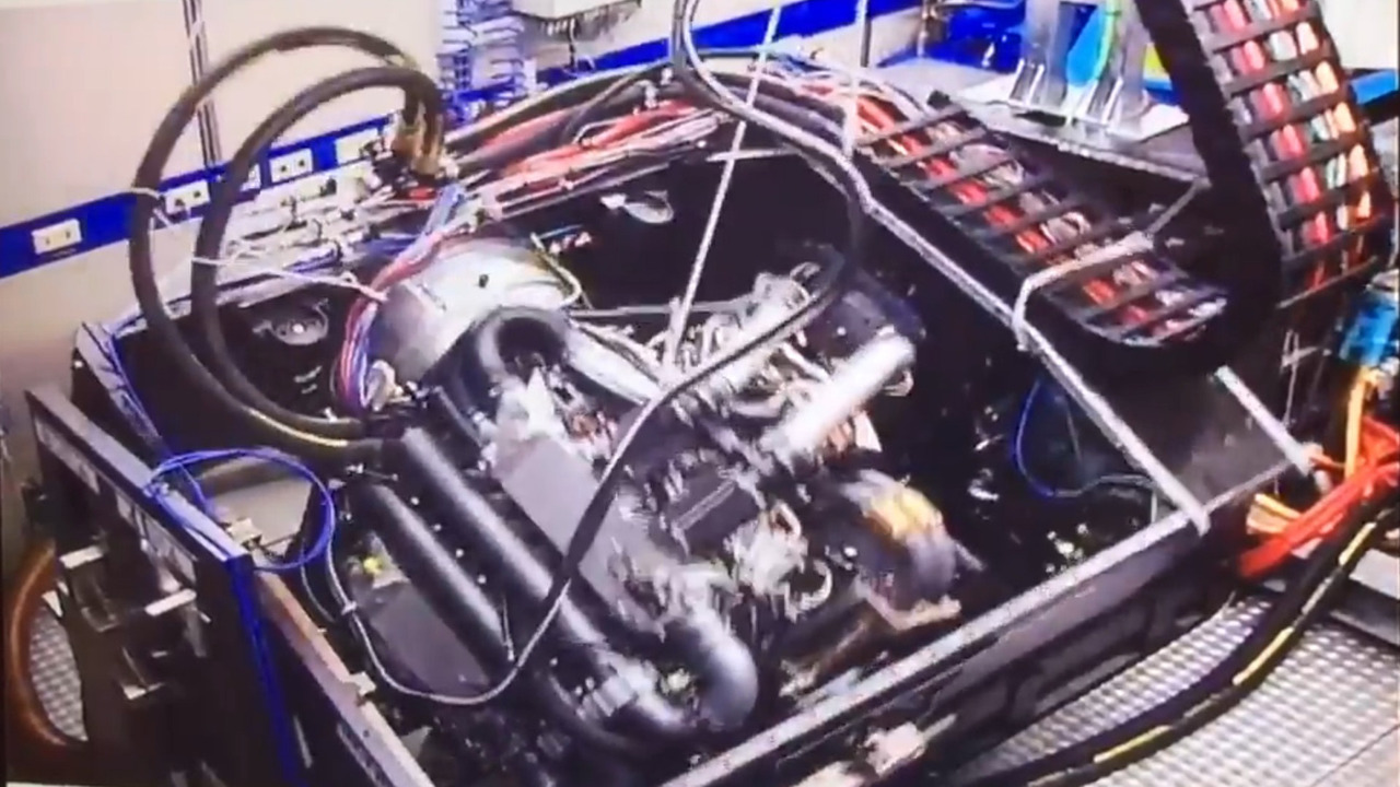 Bugatti Chiron engine undergoing Nürburgring Nordschleife simulation