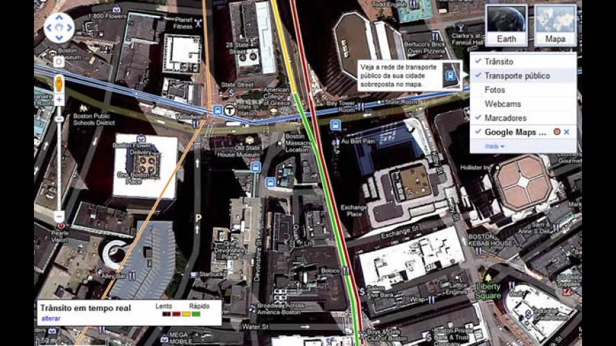 Google Maps mostra se meios de transporte estão atrasados