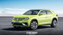 Volkswagen 300 beygirlik Tiguan Coupe R Üzerinde Çalışıyor