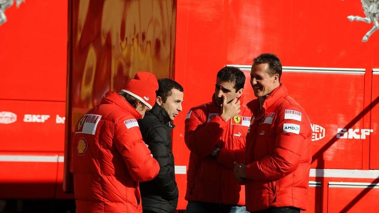 Luca Badoer, Marc Genè, Michael Schumacher