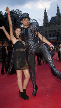 Alisar Ailabouni on the Red Carpet at the Life Ball 2010 in Vienna 19.07.2010