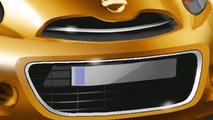 Nissan new global compact car teaser design sketch