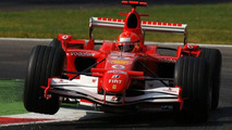 Michael Schumacher in Ferrari F2006 car