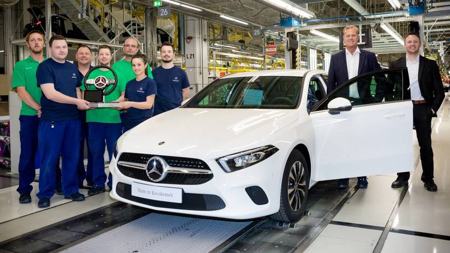 Mercedes A-Class Production Kicks Off At Second Plant