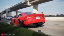 SRT Viper crash at Cars and Coffee Houston