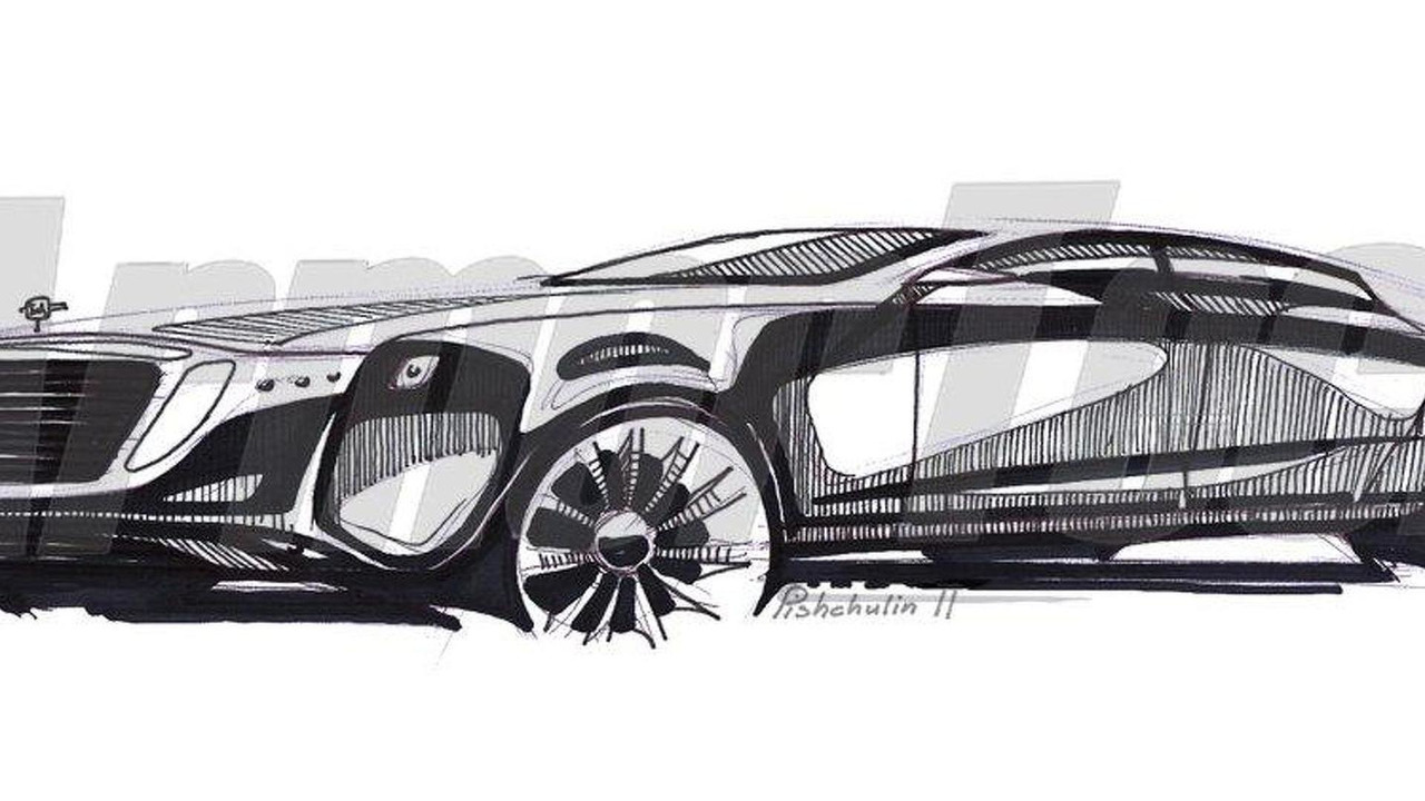 ArmorTech Zil limousine teaser design sketch, 1024, 06.06.2011