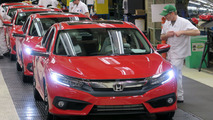 2016 Honda Civic production