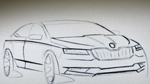 2016 Skoda Superb sketch (rumored)