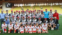 Drivers team at the charity football match 20.05.2014 Monaco Grand Prix