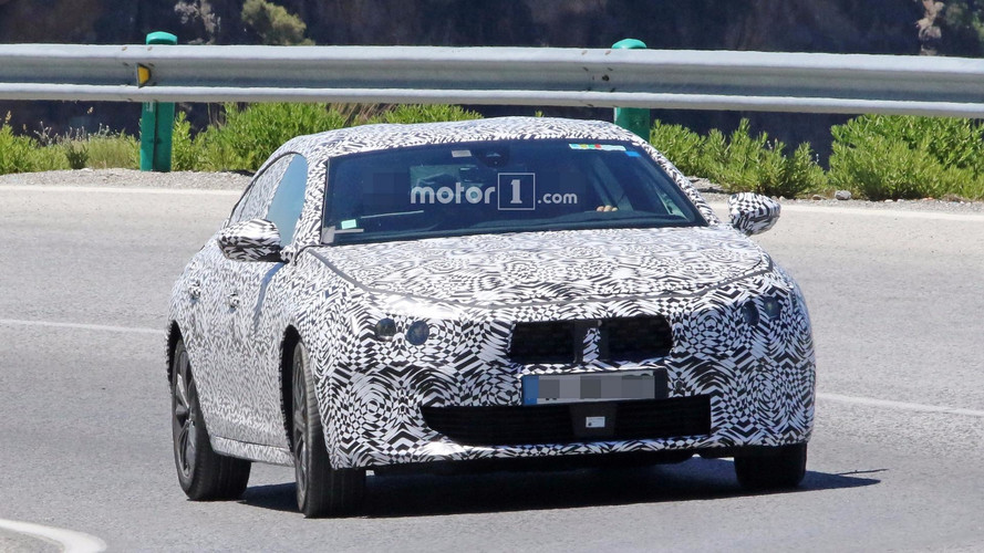 2019 Peugeot 508 with production body spy photos