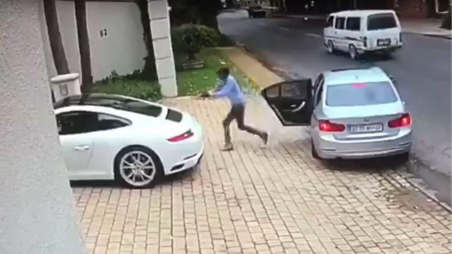 Video Shows Attempted Porsche Carjacking At Gunpoint Failing