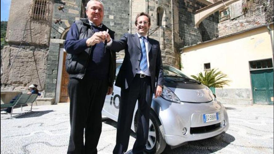 Peugeot iOn sostiene la rinascita delle Cinque Terre