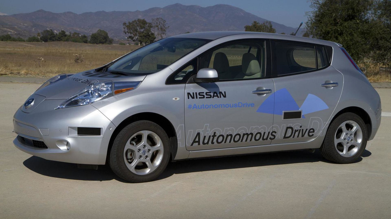 Nissan Leaf prototype with Autonomous Drive technology 27.8.2013