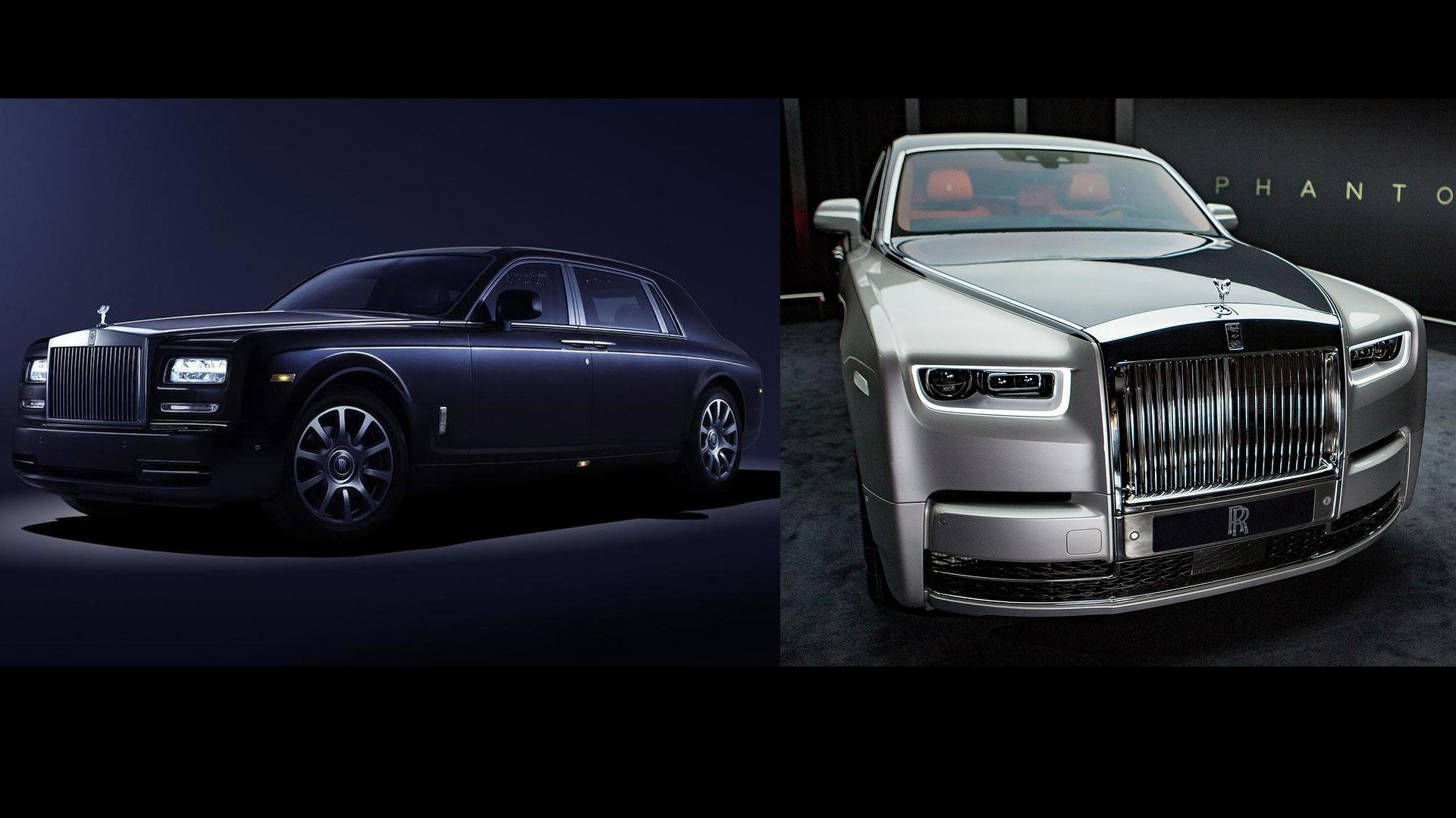 2018 rolls royce phantom see the changes side by side. Black Bedroom Furniture Sets. Home Design Ideas