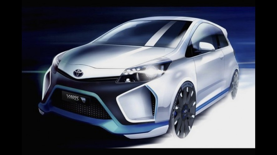 Toyota mostra esboço do Yaris Hybrid-R Concept de 400 cv